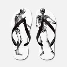 Laughing Skeletons Flip Flops