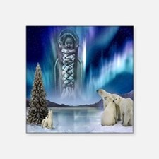 "Northern Lights Square Sticker 3"" X 3"""