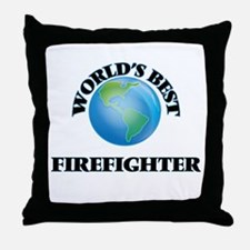 World's Best Firefighter Throw Pillow