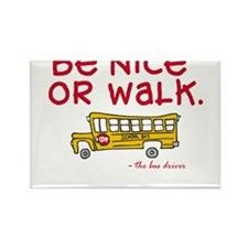 Cute Bus driver Rectangle Magnet (10 pack)