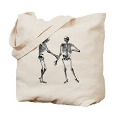 Laughing Skeletons Tote Bag