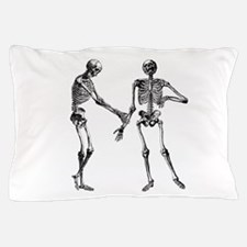 Laughing Skeletons Pillow Case
