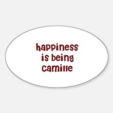 happiness is being Camille Oval Decal
