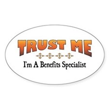 Trust Benefits Specialist Oval Decal