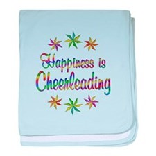 Happiness is Cheerleading baby blanket