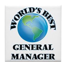 World's Best General Manager Tile Coaster