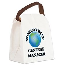 World's Best General Manager Canvas Lunch Bag