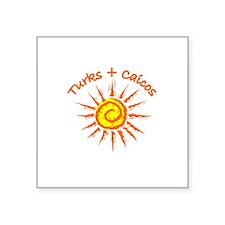 "Funny Turks and caicos Square Sticker 3"" x 3"""