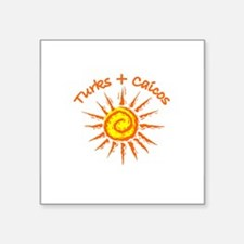 "Cute Turks and caicos islands Square Sticker 3"" x 3"""