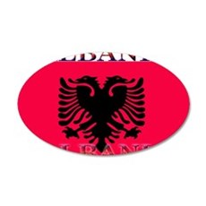 Albania.jpg 35x21 Oval Wall Decal
