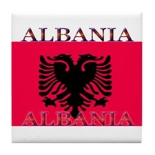 Albania.jpg Tile Coaster