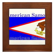 Americansamoablack.png Framed Tile