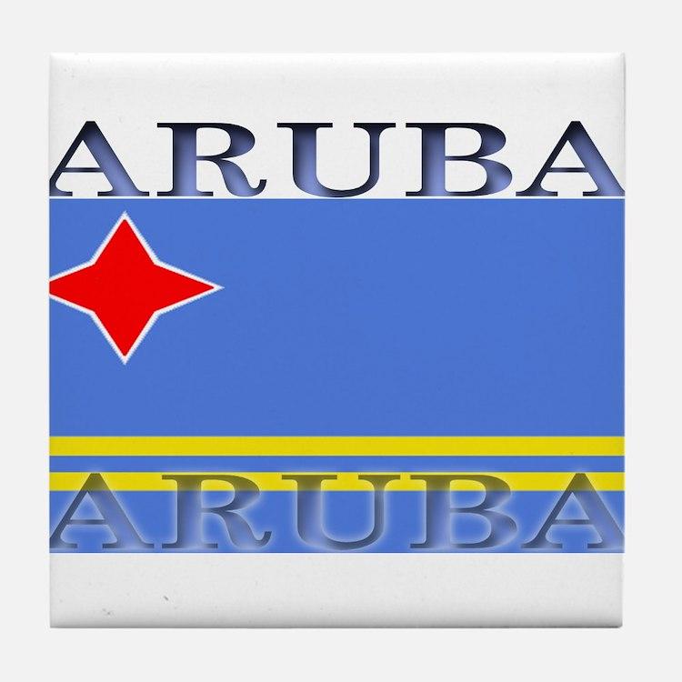 Aruba.jpg Tile Coaster