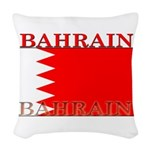Bahrainblack.png Woven Throw Pillow