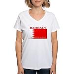 Bahrainblack.png Women's V-Neck T-Shirt