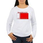 Bahrainblack.png Women's Long Sleeve T-Shirt