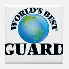 World's Best Guard Tile Coaster