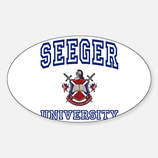SEEGER University Oval Decal