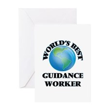 World's Best Guidance Worker Greeting Cards