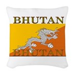 Bhutan.jpg Woven Throw Pillow