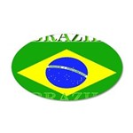 Brazilblack.png 35x21 Oval Wall Decal