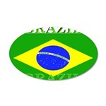 Brazilblack.png 35x21 Oval Wall Decal