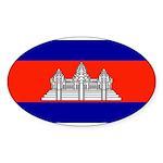 Cambodiablank.jpg Sticker (Oval 10 pk)