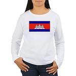 Cambodiablank.jpg Women's Long Sleeve T-Shirt