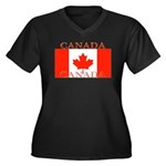 Canada.jpg Women's Plus Size V-Neck Dark T-Shirt