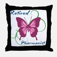 Retired Pharmacist (Butterfly) Throw Pillow