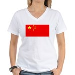 Chinablank.jpg Women's V-Neck T-Shirt