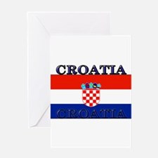 Croatiablack.png Greeting Card