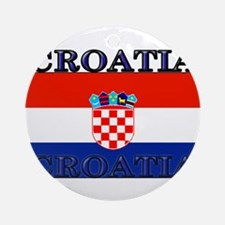 Croatiablack.png Ornament (Round)