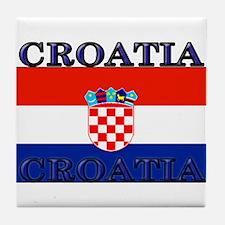 Croatiablack.png Tile Coaster