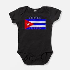 Cubablack.png Baby Bodysuit