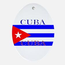 Cubablack.png Ornament (Oval)