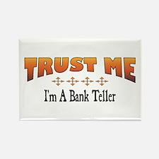 Trust Bank Teller Rectangle Magnet
