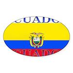 Ecuador.jpg Sticker (Oval 50 pk)