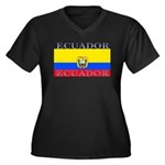 Ecuador.jpg Women's Plus Size V-Neck Dark T-Shirt