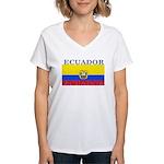 Ecuador.jpg Women's V-Neck T-Shirt