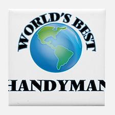World's Best Handyman Tile Coaster