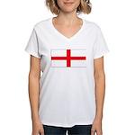 Englandblank.jpg Women's V-Neck T-Shirt
