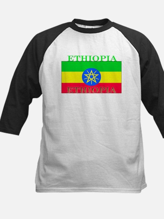 Ethiopia.png Kids Baseball Jersey