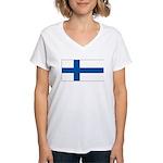 Finlandblank.jpg Women's V-Neck T-Shirt