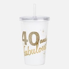 40 and Fabulous Acrylic Double-wall Tumbler