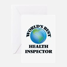 World's Best Health Inspector Greeting Cards
