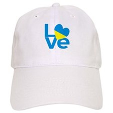 Blue Ukrainian LOVE Baseball Baseball Cap