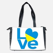 Blue Ukrainian LOVE Diaper Bag