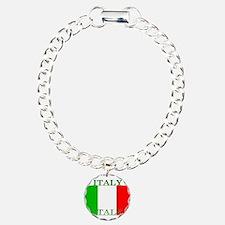 Italyblack.png Charm Bracelet, One Charm
