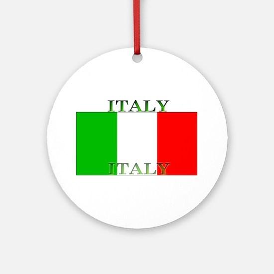 Italyblack.png Ornament (Round)
